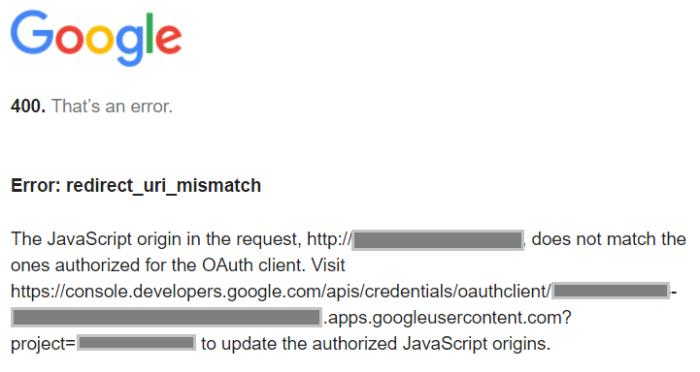 google-uri-mismatch