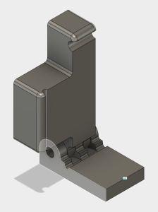 3D Printed Acrylic Fixture CAD