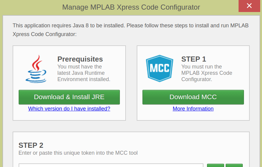 MPLAB Xpress Code Configurator Requires Java  Good Feeling's