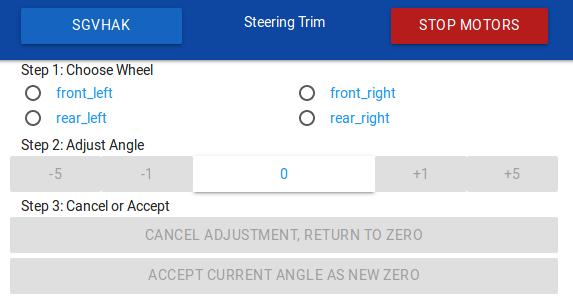 Steering Trim