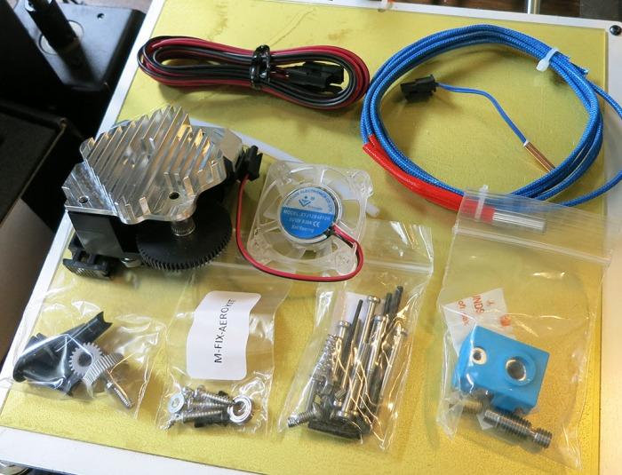 Titan Aero parts laid out