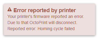 Homing error