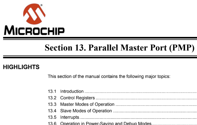 Microchip PIC32 PMP