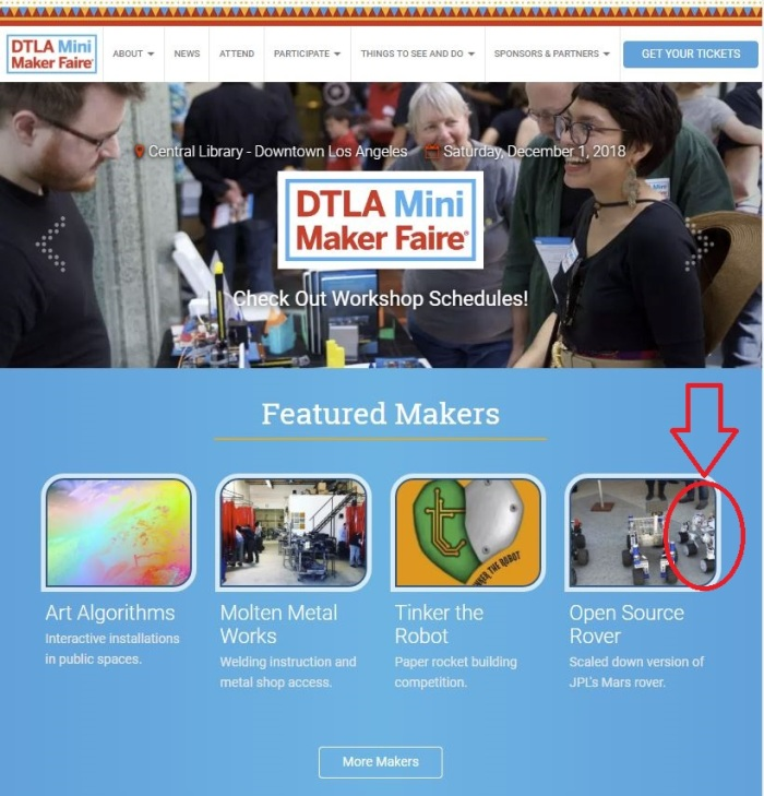 DTLA Mini Maker Faire Website