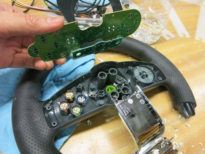 Xbox 360 Steering Wheel 15 - wheel PCB