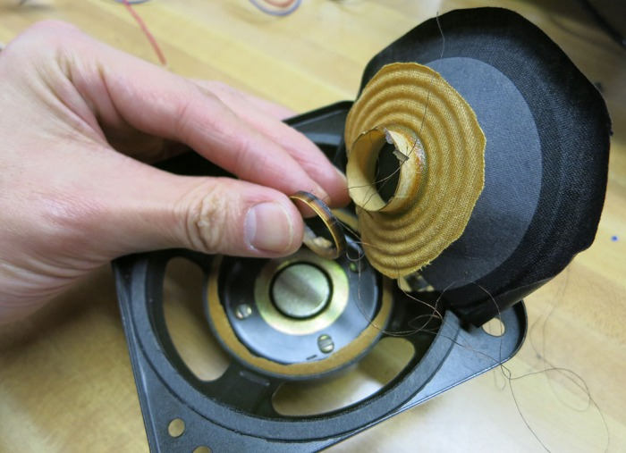Speaker voice coil recovered