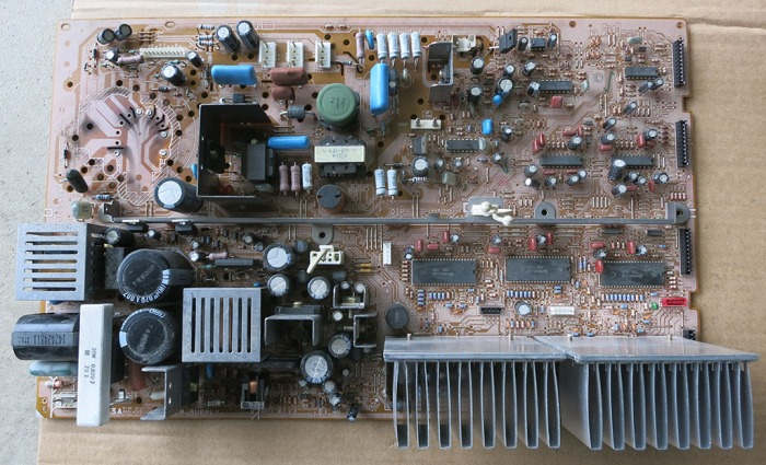 Power Board top before