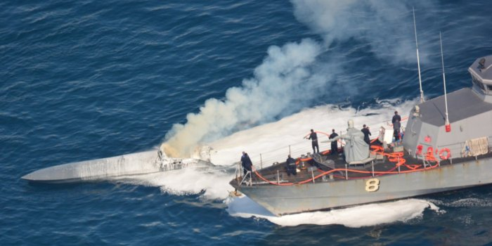 coast guard narcotics submarine firefighting