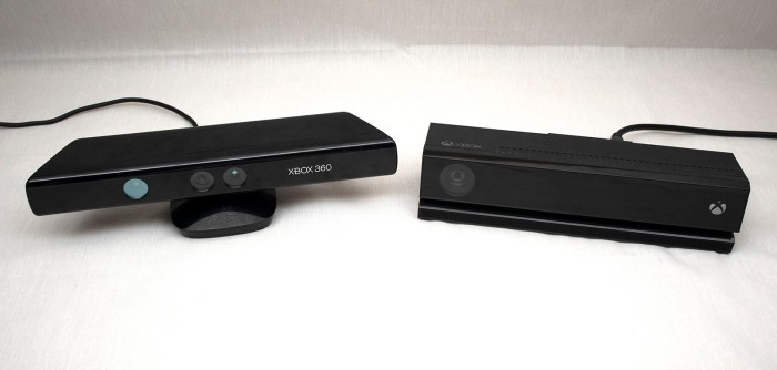 xbox 360 kinect and xbox one kinect