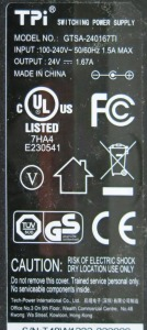 Neato charging power adapter