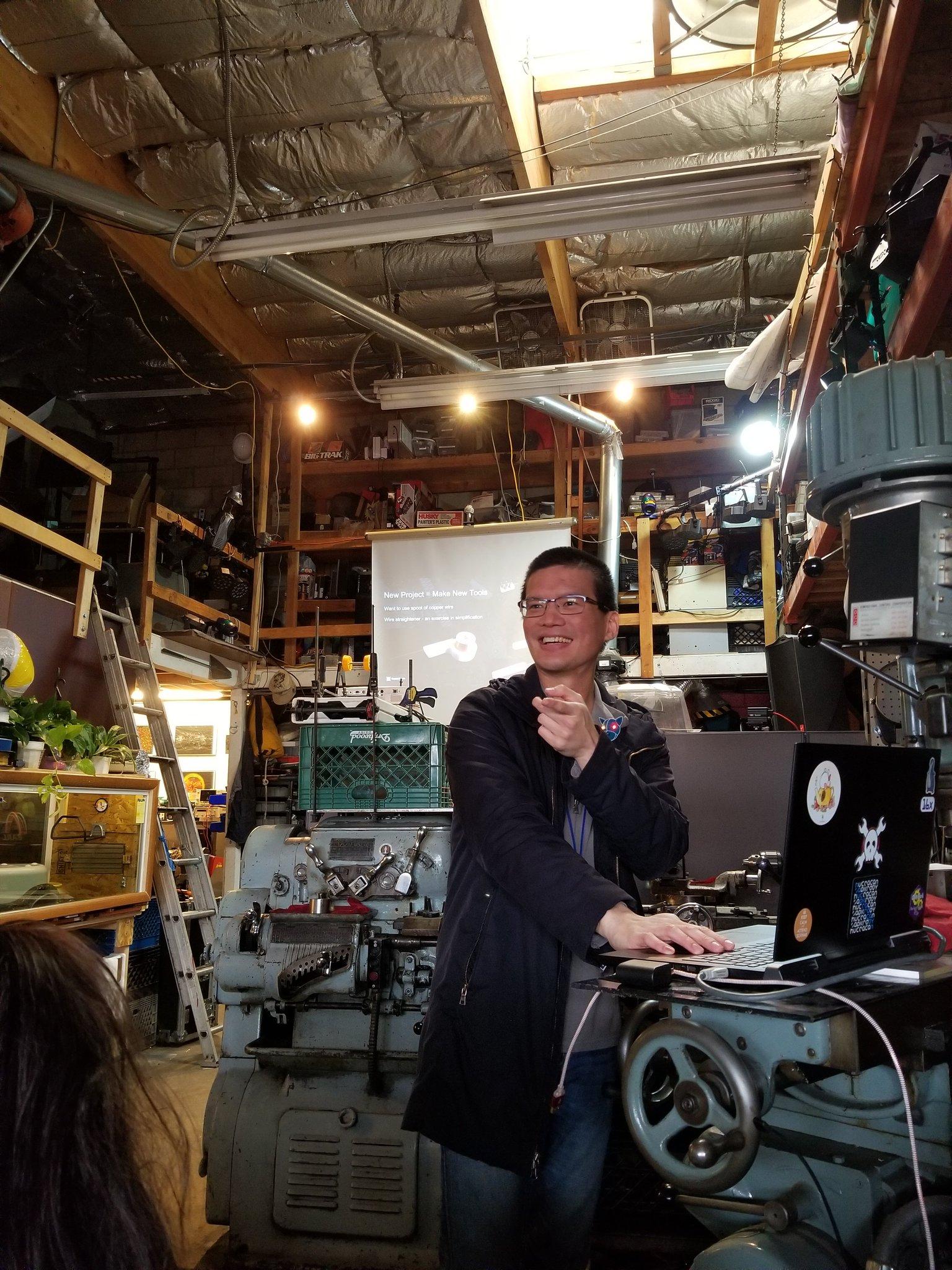 Roger presenting at Sparklecon