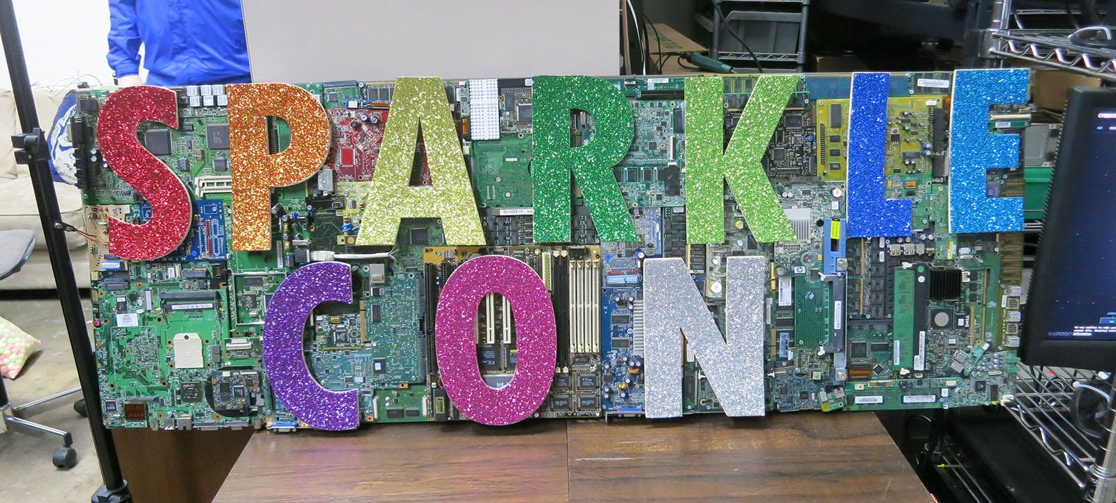 Sparklecon Day 1 sign
