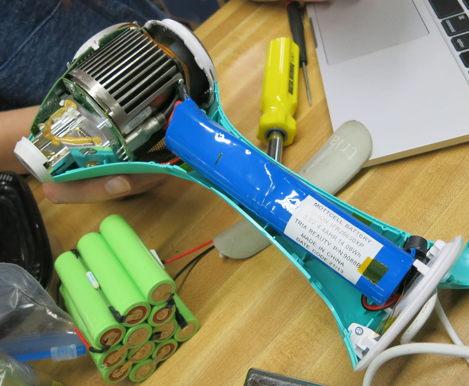 Tria 4X laser components