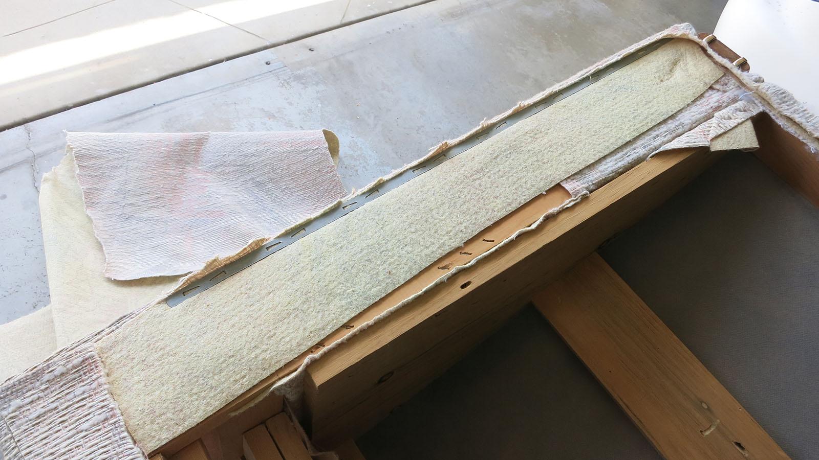 Couch Teardown 11 - fastening strips