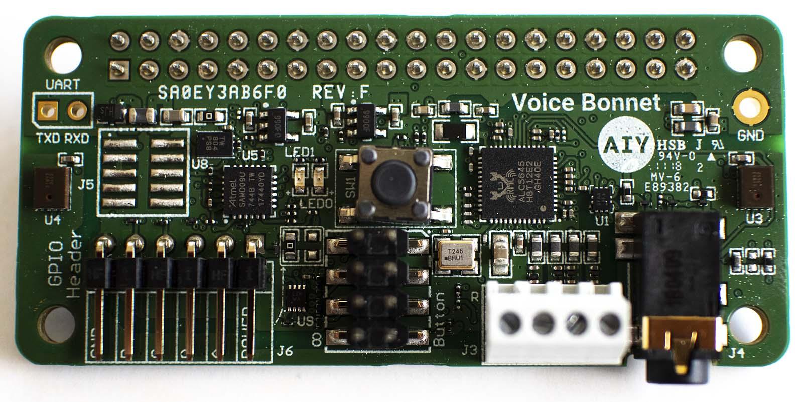 Google AIY Voice Bonnet