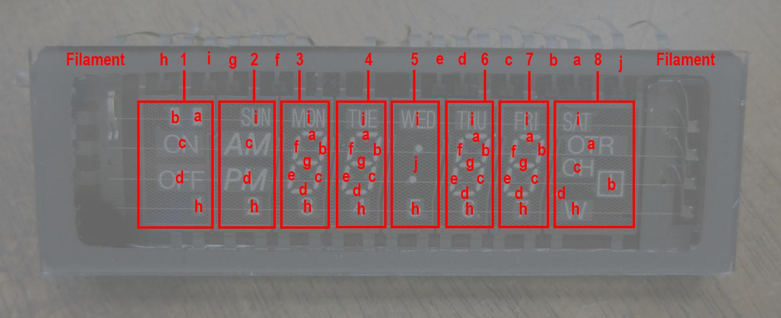 NEC VSL0010-A VFD Annotated