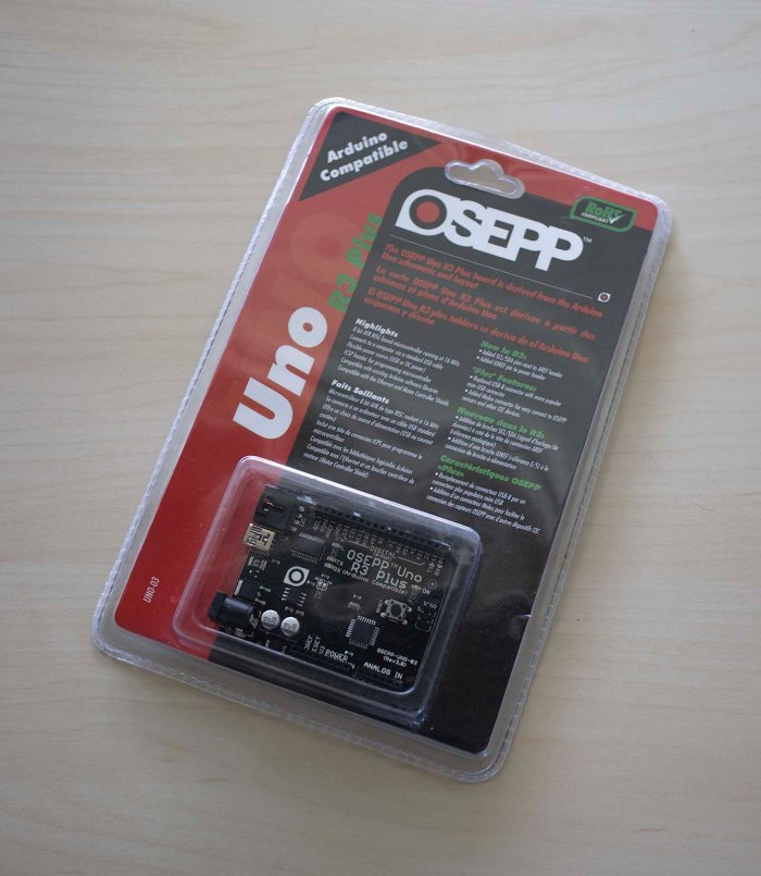 OSEPP Uno R3 Plus blister pack