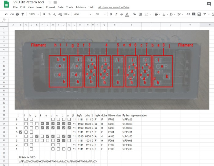 VFD Pattern tool - 12.00