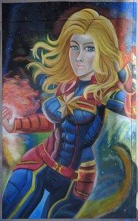 Chalk festival Captain Marvel
