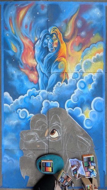 Chalk festival Lion King 10