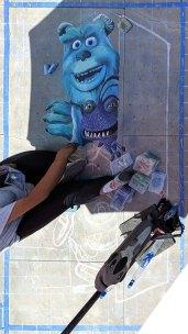 Chalk festival Monsters Inc 02
