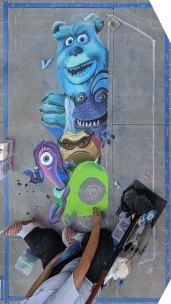 Chalk festival Monsters Inc 06