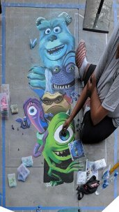 Chalk festival Monsters Inc 10