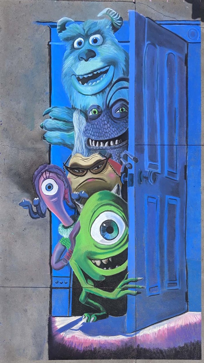 Chalk festival Monsters Inc 20