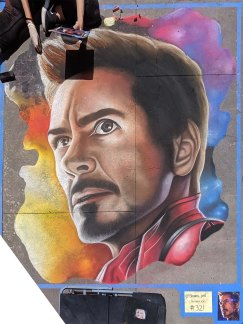 Chalk festival Tony Stark