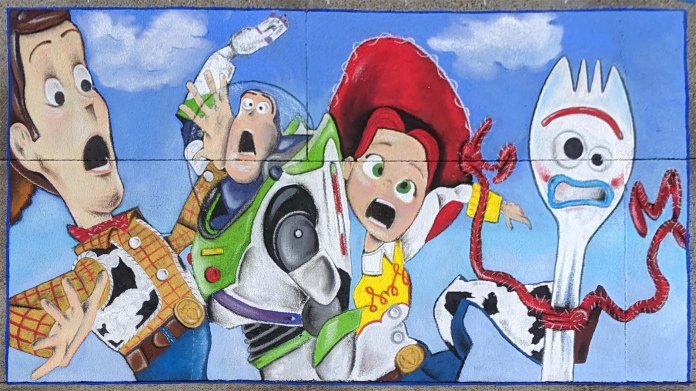 Chalk festival Toy Story 4 20