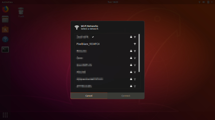 Ubuntu WiFi selection