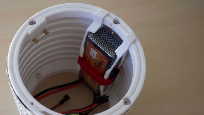 Glow Flow battery clip installed