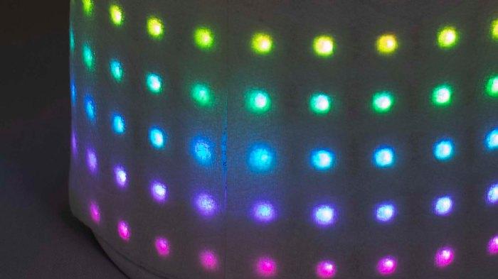 Pixelblaze Glow Flow with paper towel diffuser closeup