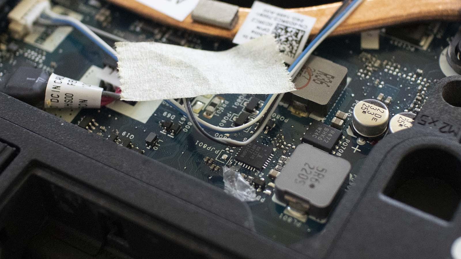 Dell Latitude E6230 interior debris