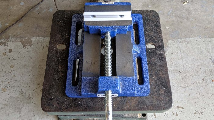 Vise and drill press table slots do not align