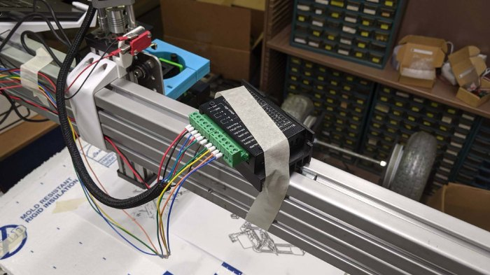 Stepper driver - tape mounted