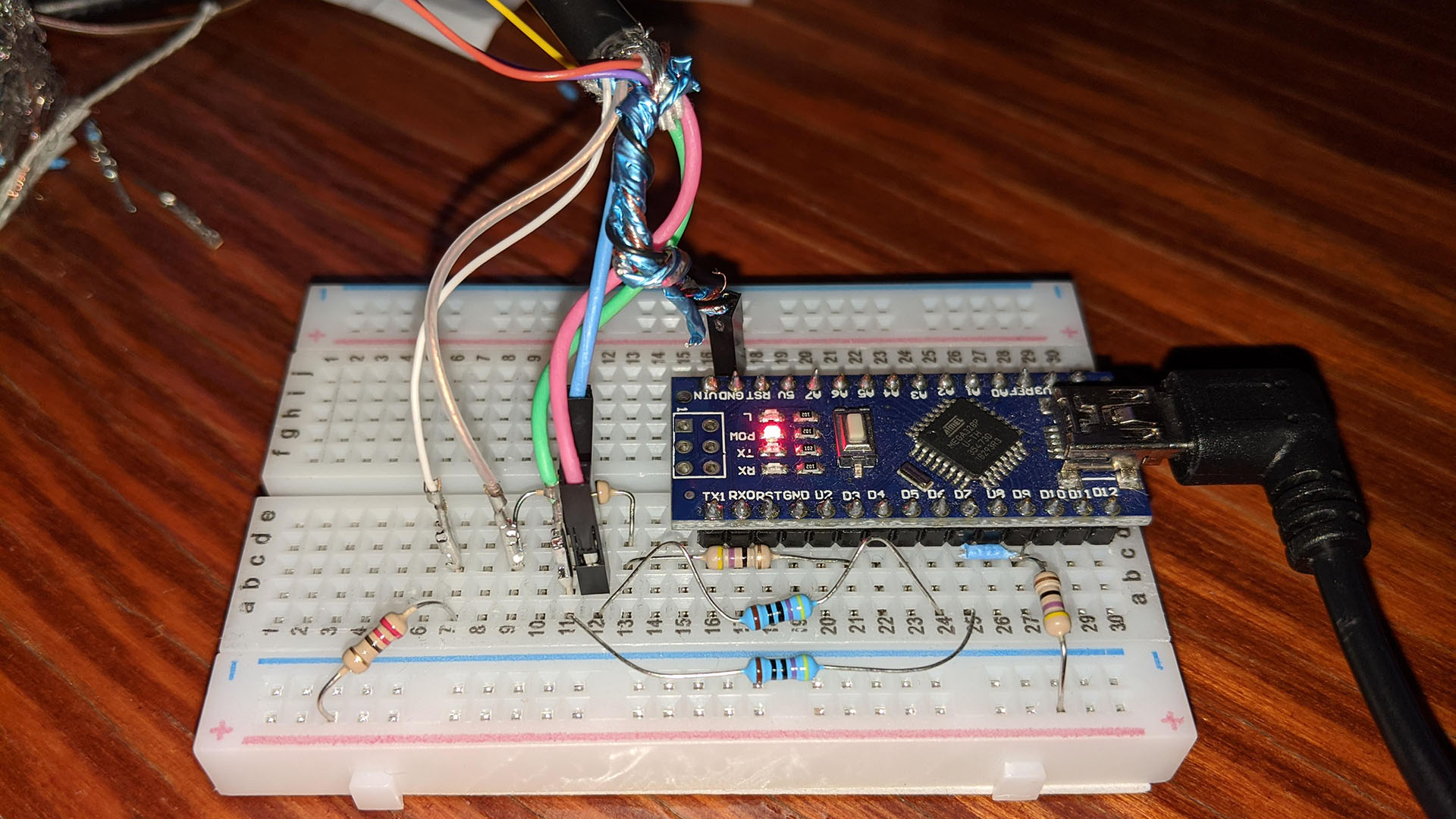 Arduino VGAX breadboard