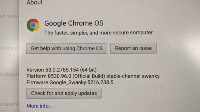 Chromebook 53.0.2785.154