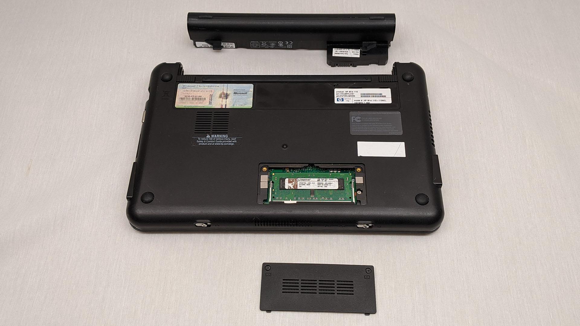 HP Mini 110-1134CL remove easy stuff