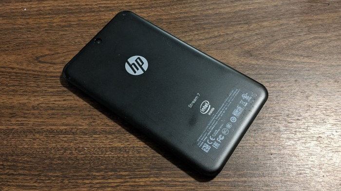 HP Stream 7 00 back plate intact