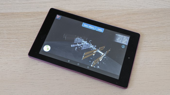 Kindle Fire HD 7 running ISSLive
