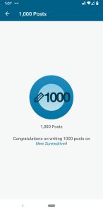NewScrewdriver 1000 posts
