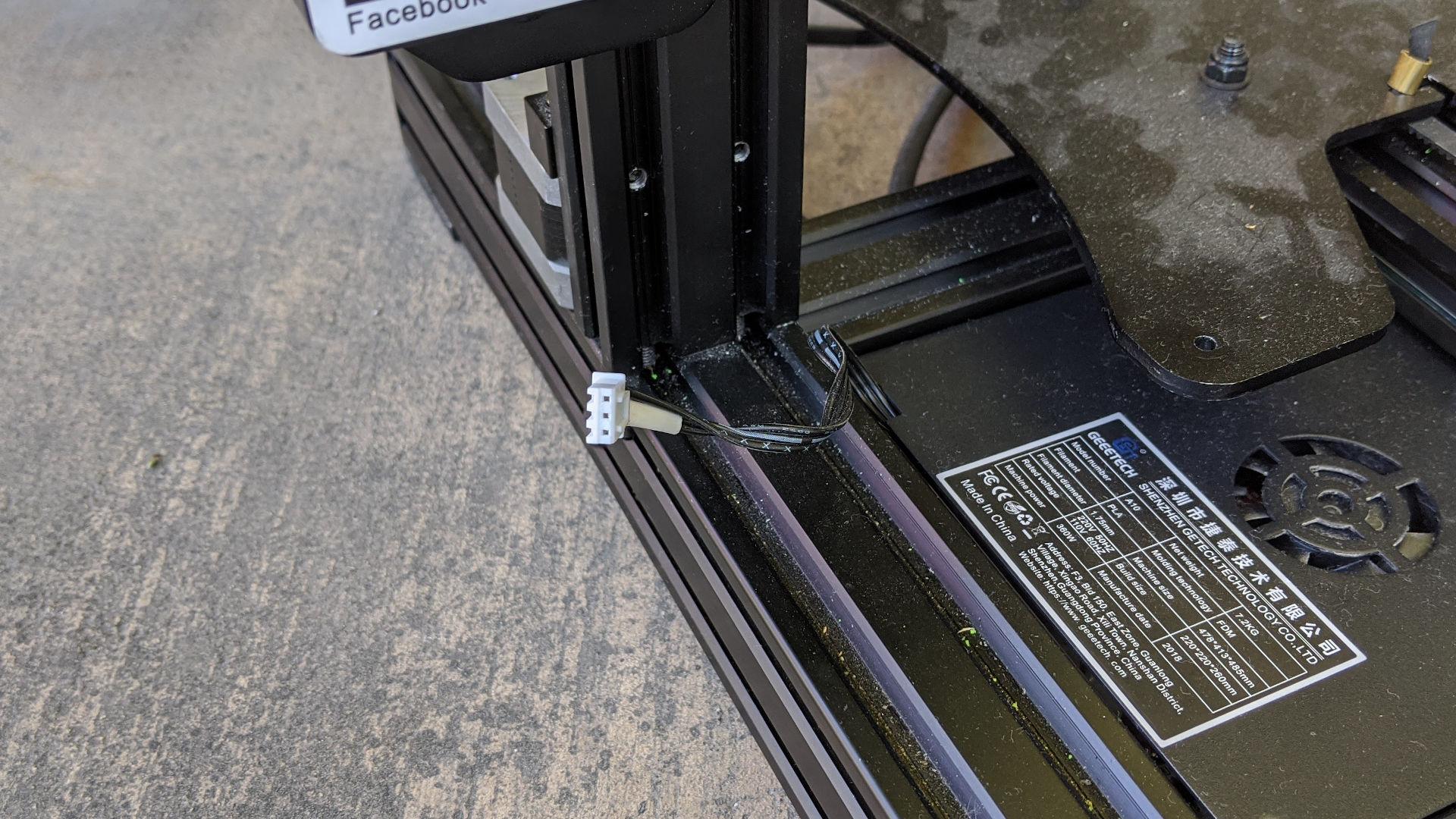Geeetech A10 Z endstop connector